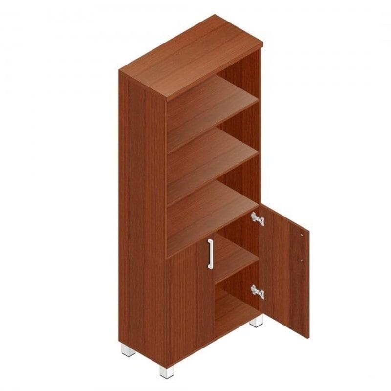 Альтерна Пр.Ш-2+Пр.ДШ-2СТ Шкаф для сувениров глухие+тонированные двери без рамки Пр.Ш-2+Пр.ДШ-2СТ орех Пр.Ш-2+Пр.ДШ-2СТ