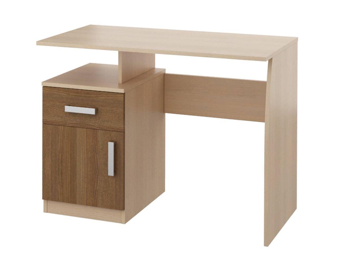 Мика стл.121.09 стол компьютерный дуб кремона Ясень кассино .